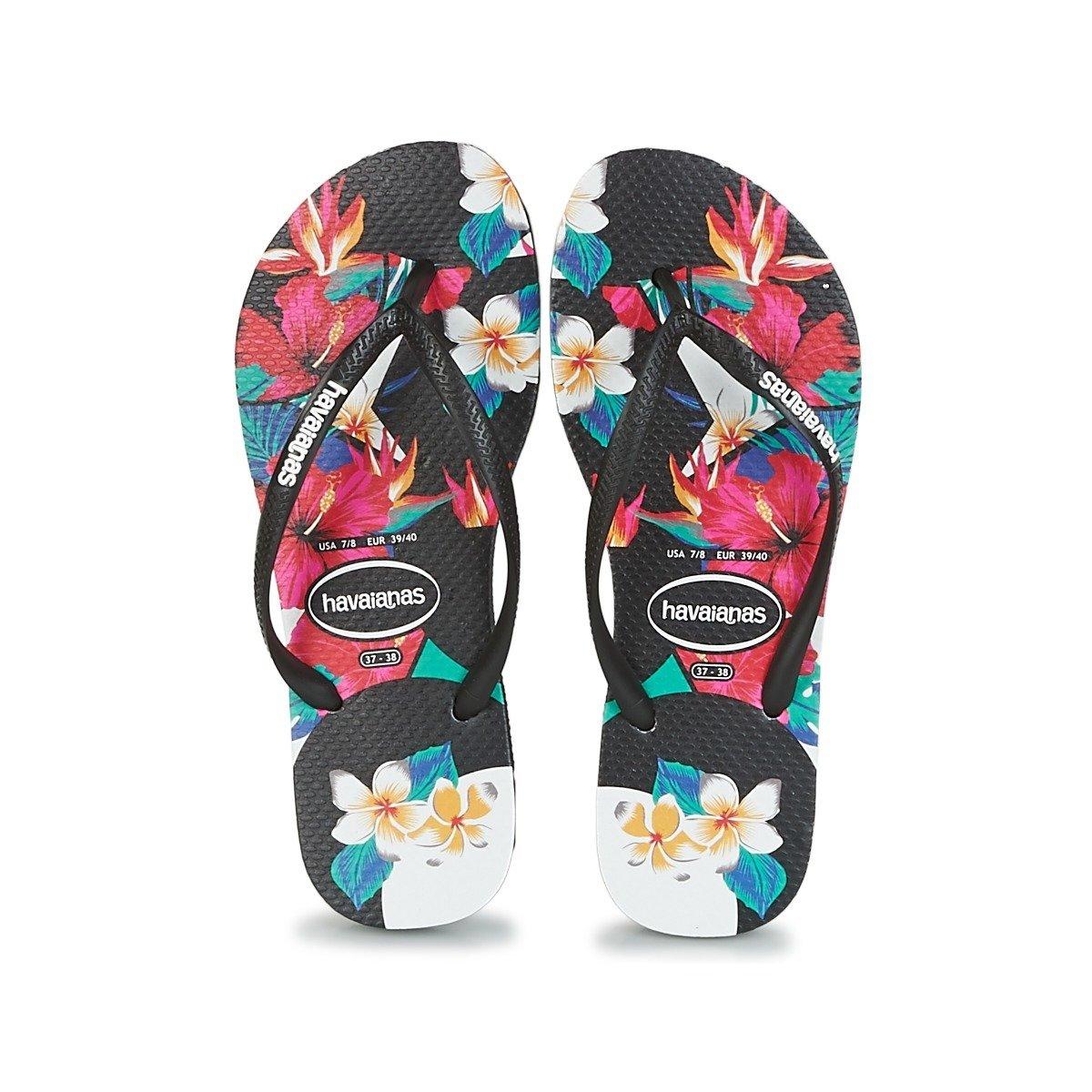 Tongs femme HAVAIANAS slim floral noir havaianas-S18 slim floral black