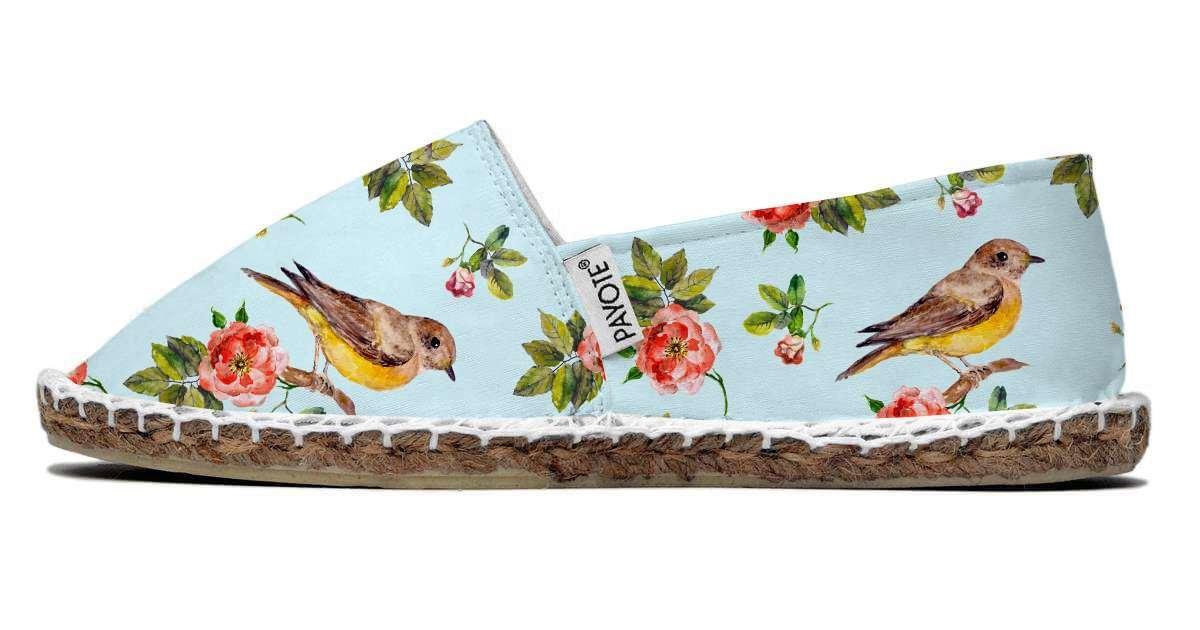 Espadrille PAYOTE Judith, imprimé oiseaux multicolore payote-judith