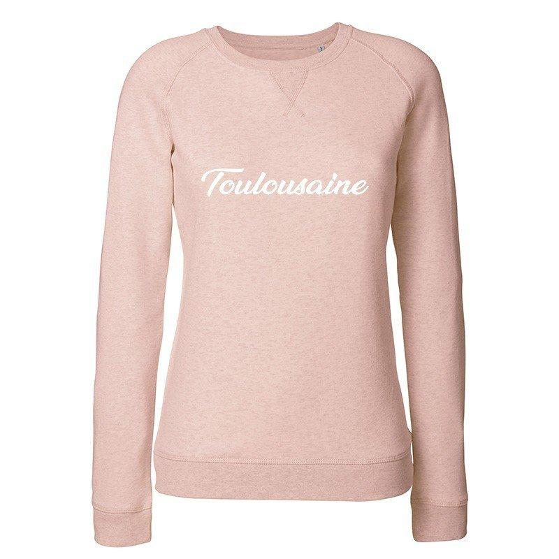 "Sweat femme FABRICA DE BIGOTE ""Toulousaine"" rose fdb-sweat toulousaine femme rose"