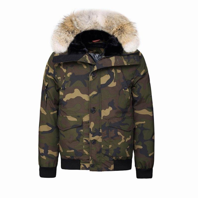 Blouson mixte Montreal à capuche et fourrure véritable HELVETICA camouflage helvetica-H18 montreal camo