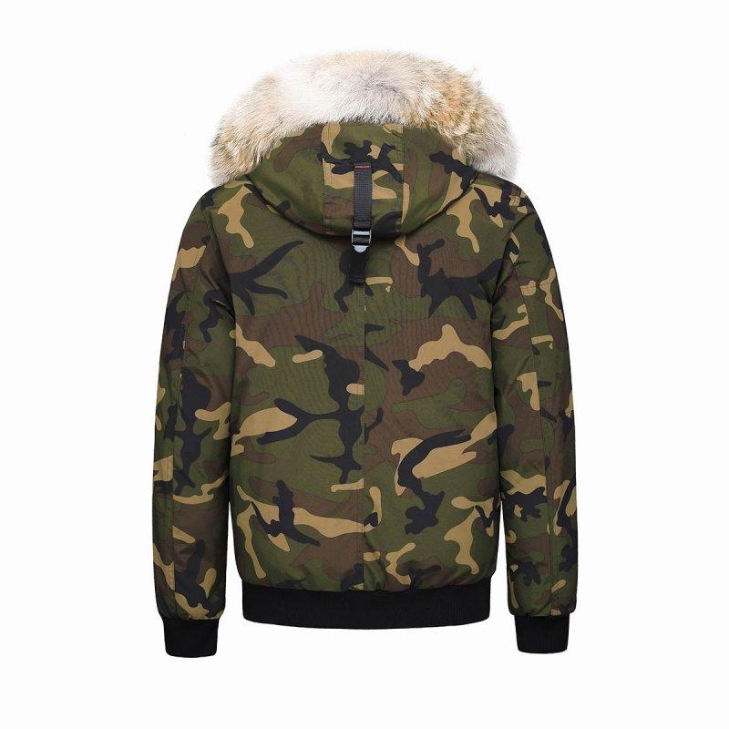 Blouson mixte Montreal à capuche et fourrure véritable HELVETICA camouflage
