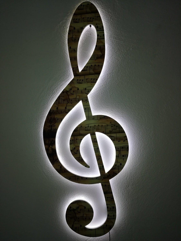 """Chiave di violino """"con immagine musicale"""""""