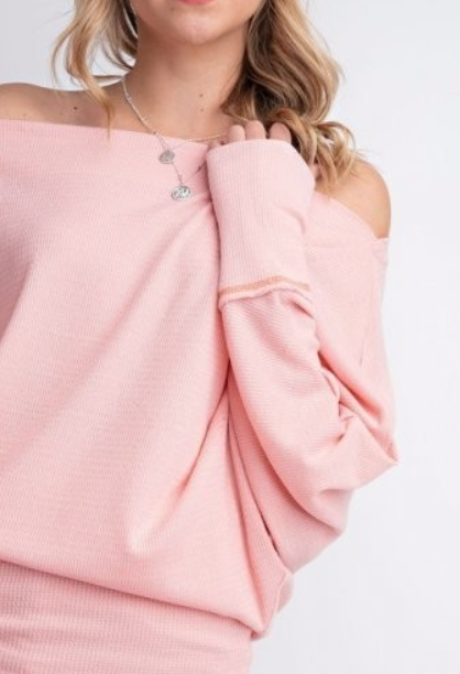 Slouchy Top  ~ Blush
