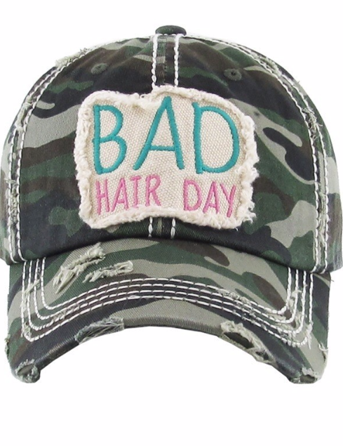 Bad Hair day ~ Distressed Camo