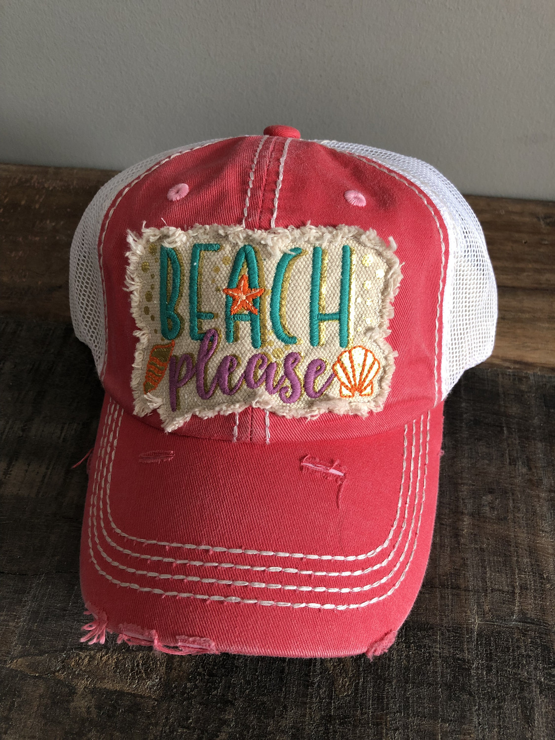 Beach Please ~ Distressed coral