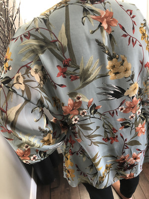 Floral Kimono ~ light blue