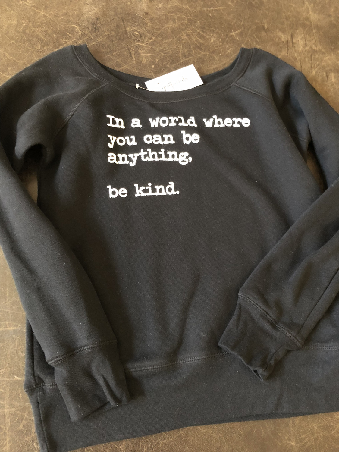 Be Kind ~ Sweater Collection ~ Wide neck ~ Black