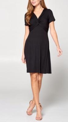 Front Knot Dress ~ Black