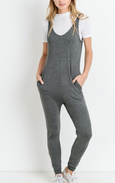 Comfy Days Jumpsuit ~ Charcoal