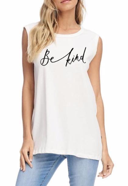 Be Kind tank ~ White