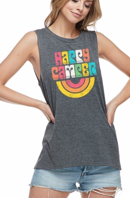 Happy Camper ~ charcoal grey