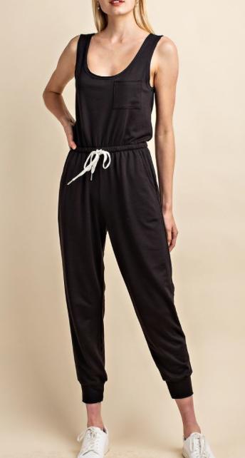 Drawstring Jumpsuit ~ Black
