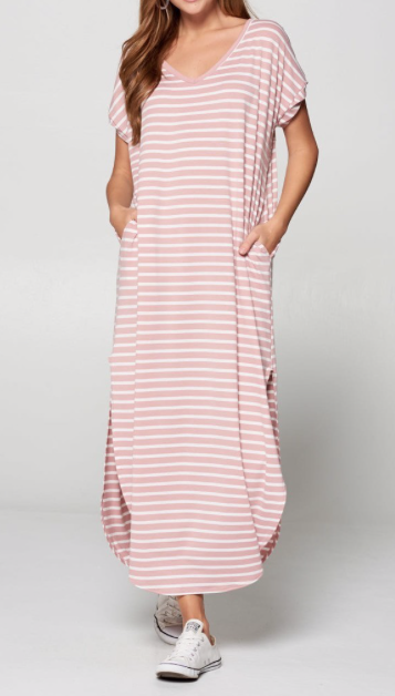 T-shirt Maxi - light pink