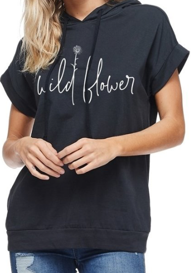 Wildflower Hooded ~ Black