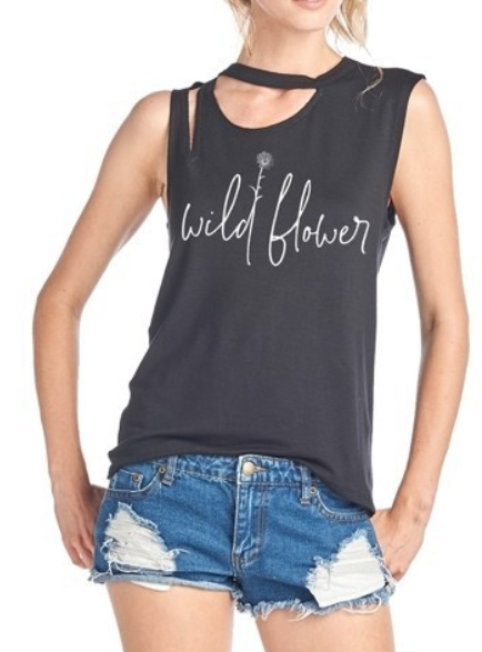 Wildflower ~ distressed black