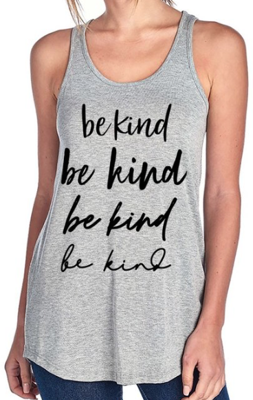 Be Kind on repeat ~ heather grey