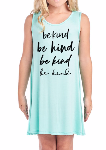 GIRLS ~ Be Kind on repeat ~ mint