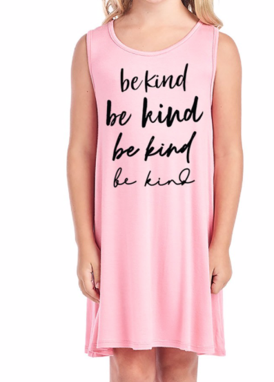 GIRLS ~ Be Kind on repeat ~ pink