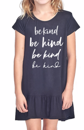 GIRLS ~ Be Kind on repeat ~ Black frill