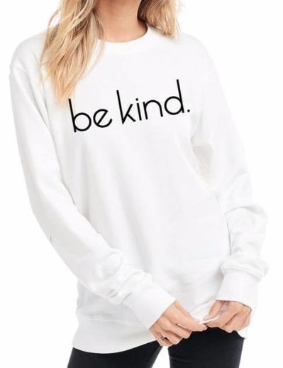 Be kind Sweater ~ White