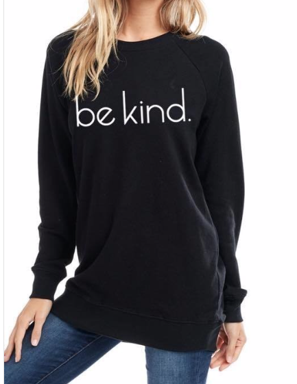 Be kind Sweater ~ Black