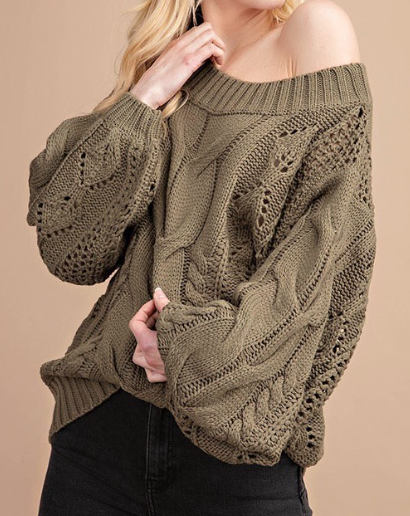 Chunky Knit ~ Olive