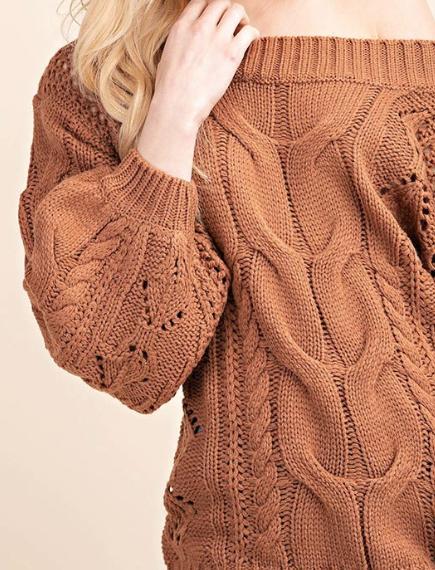 Chunky Knit ~ Caramel
