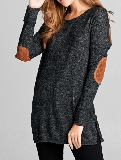 Button Back Sweater ~ Black