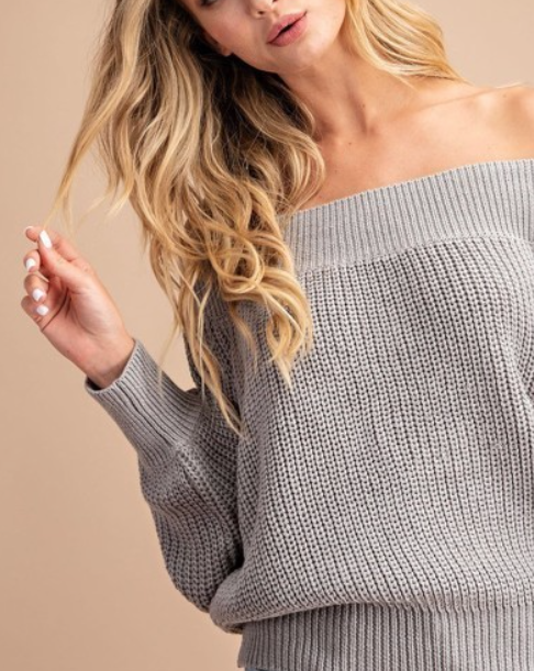 Slouchy Knit ~ Grey