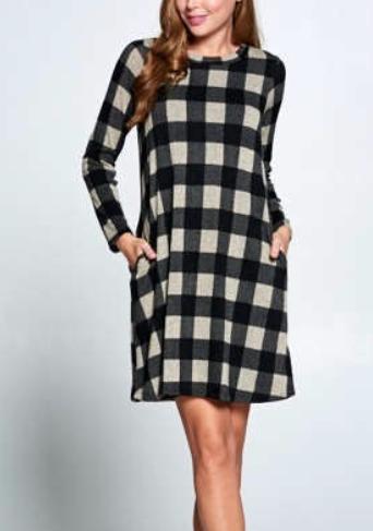 Little Fall Dress ~ black/white