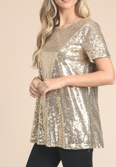 Bling Top ~ gold