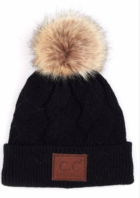 Faux Fur Toque ~ black