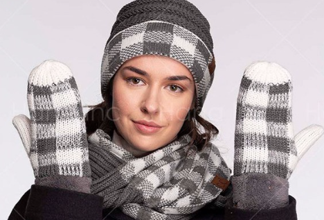 Infinity Scarf ~ charcoal | white