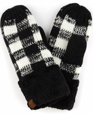 Cozy Mitts ~ black | white