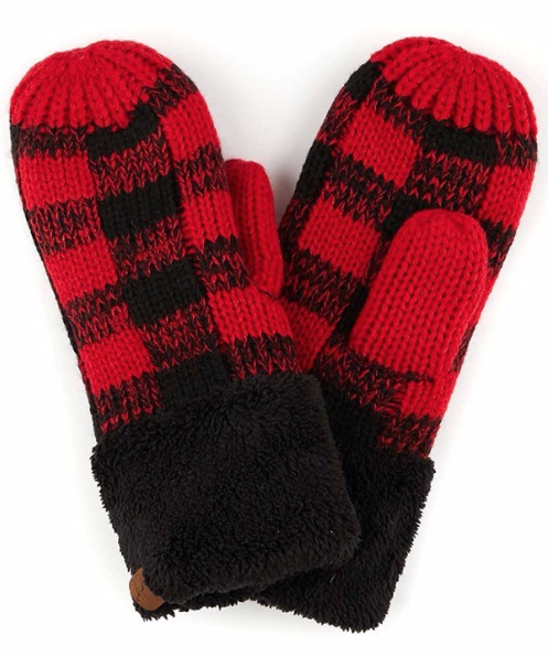Cozy Mitts ~ red | black