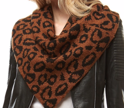 Leopard Scarf ~ brown
