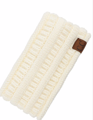 Pony tail head band ~ ivory