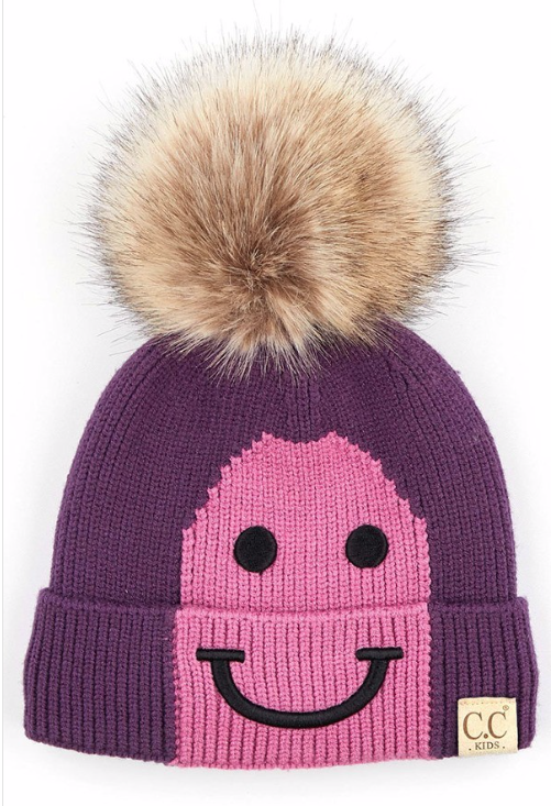 Kids Happy Toque ~ funky purple