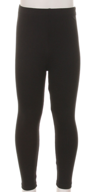 Kids Leggings ~ solid black