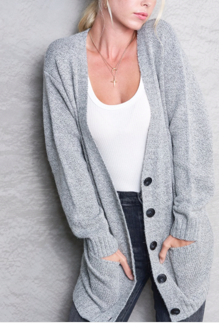 Plush Cardi ~ Soft Grey