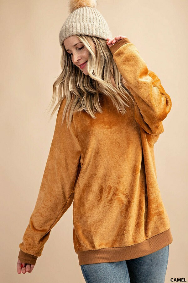 Cuddle Sweater ~ Camel