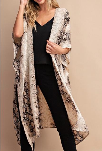 Snake Kimono ~ taupe