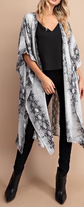 Snake Kimono ~ grey