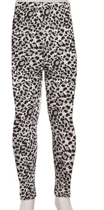 Kids Leggings ~ snow leopard