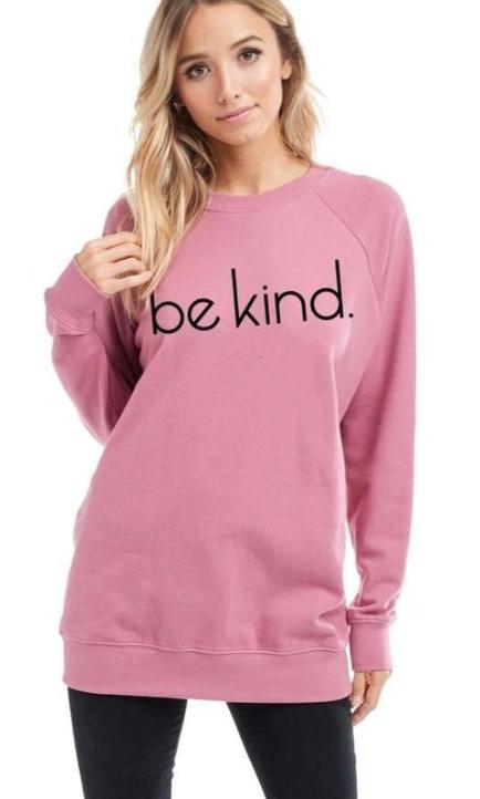 Be kind Sweater ~ Blush Pink