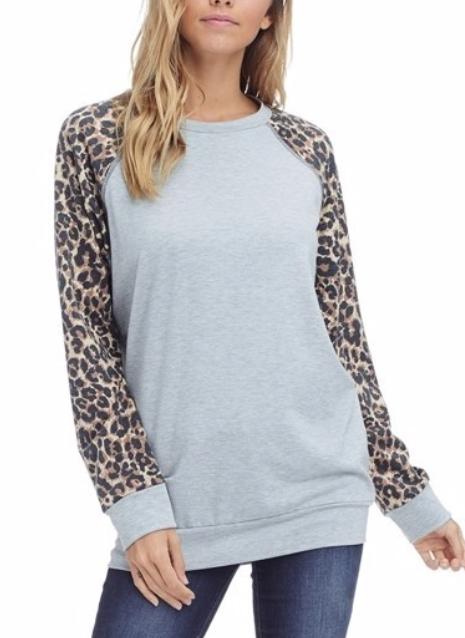 Basically Leopard ~ heather grey