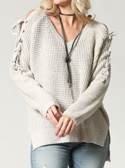 The Unique Sweater ~ oatmeal