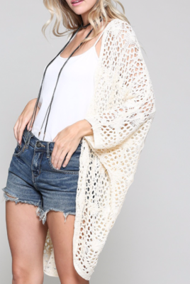 Cocoon Cardi ~ natural cream
