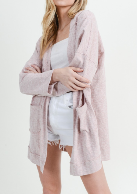 Pretty in Pink Hooded Cardi