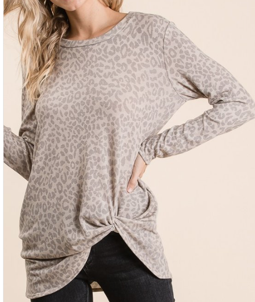 Soft Knot Leopard ~ taupe